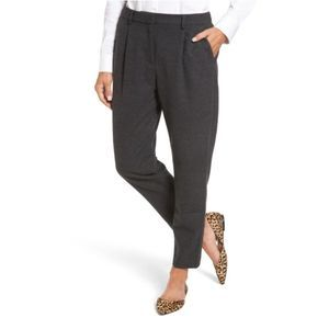 Halogen Heather Gray Relaxed Ankle Pants Size S